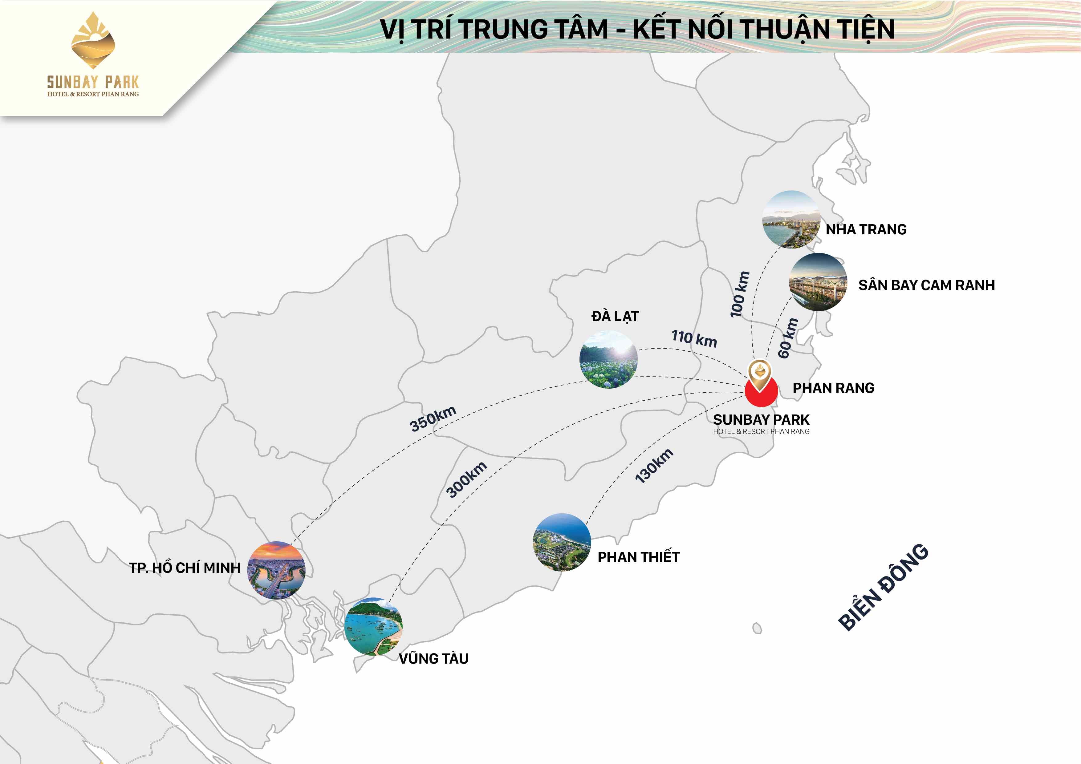 Bản đồ vị trí dự án Sunbay Park Phan Rang Ninh Thuận