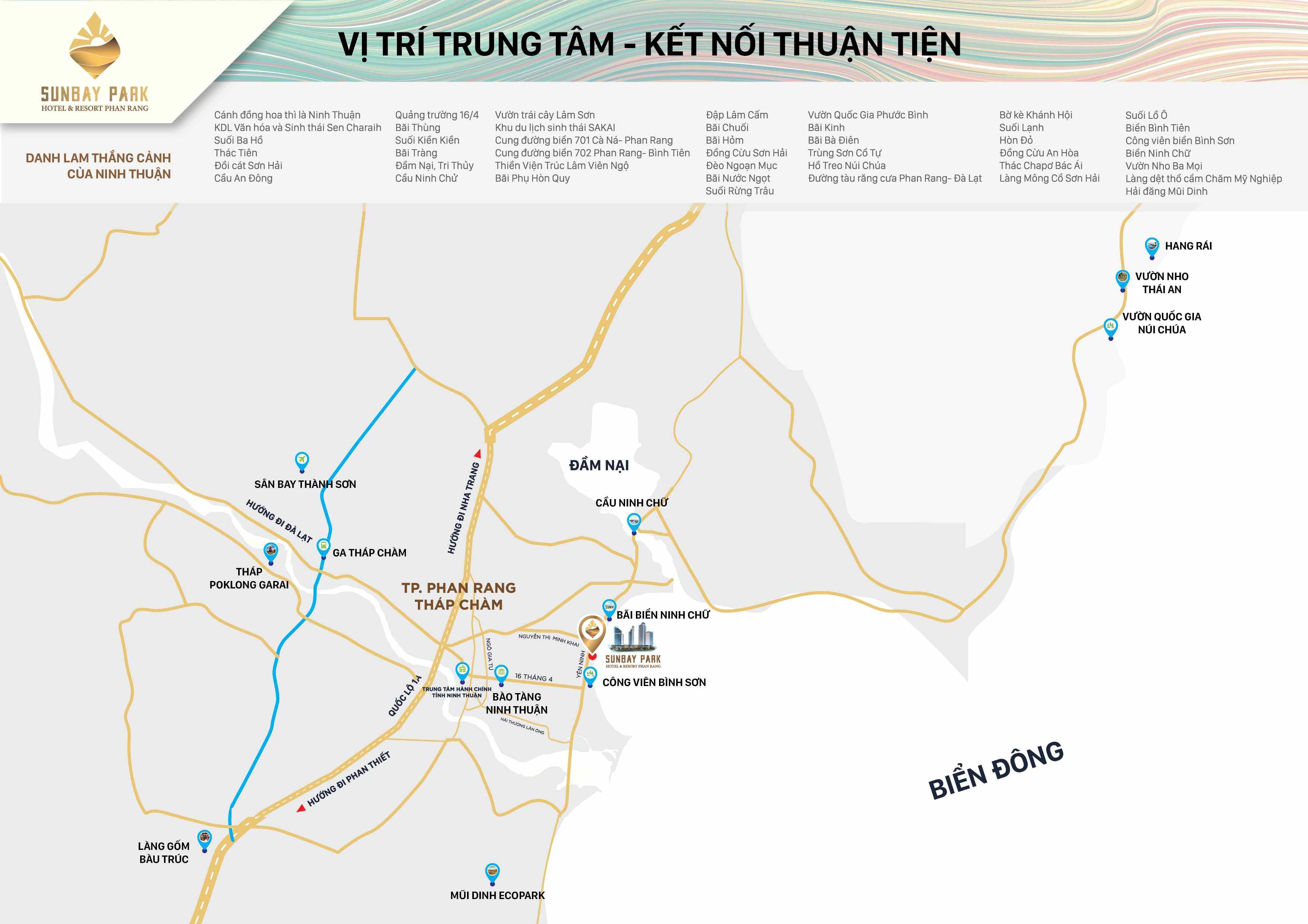 Vị trí Sunbay Park trên bản đồ chi tiết Phan Rang