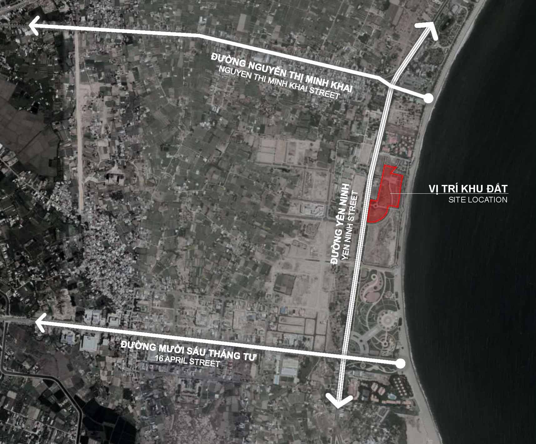 Vị trí khu đất dự án Sunbay Park Phan Rang Ninh Thuận