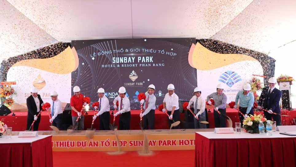 Lễ động thổ khởi công dự án Sunbay Park Phan Rang Ninh Thuận được triển khai ngày 9 tháng 4 năm 2019