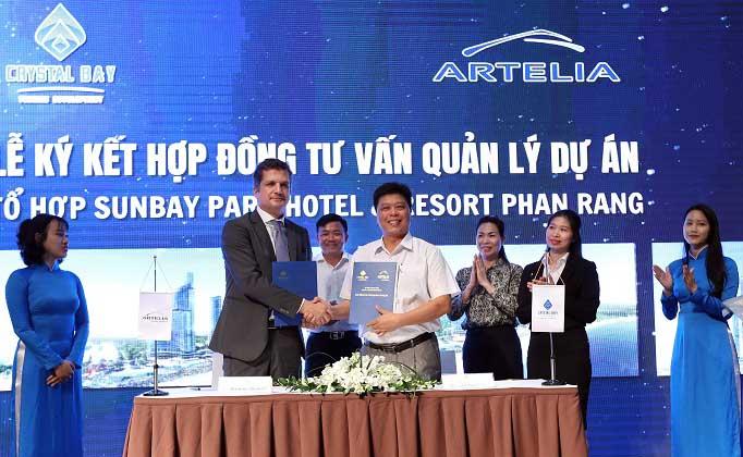 Chủ đầu tư Sunbay Park ký kết hợp đồng hợp tác với đơn vị tư vấn quản lý dự án Arteria
