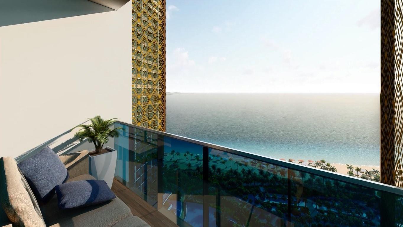 View biển từ căn hộ Sunbay Park Ninh Thuận