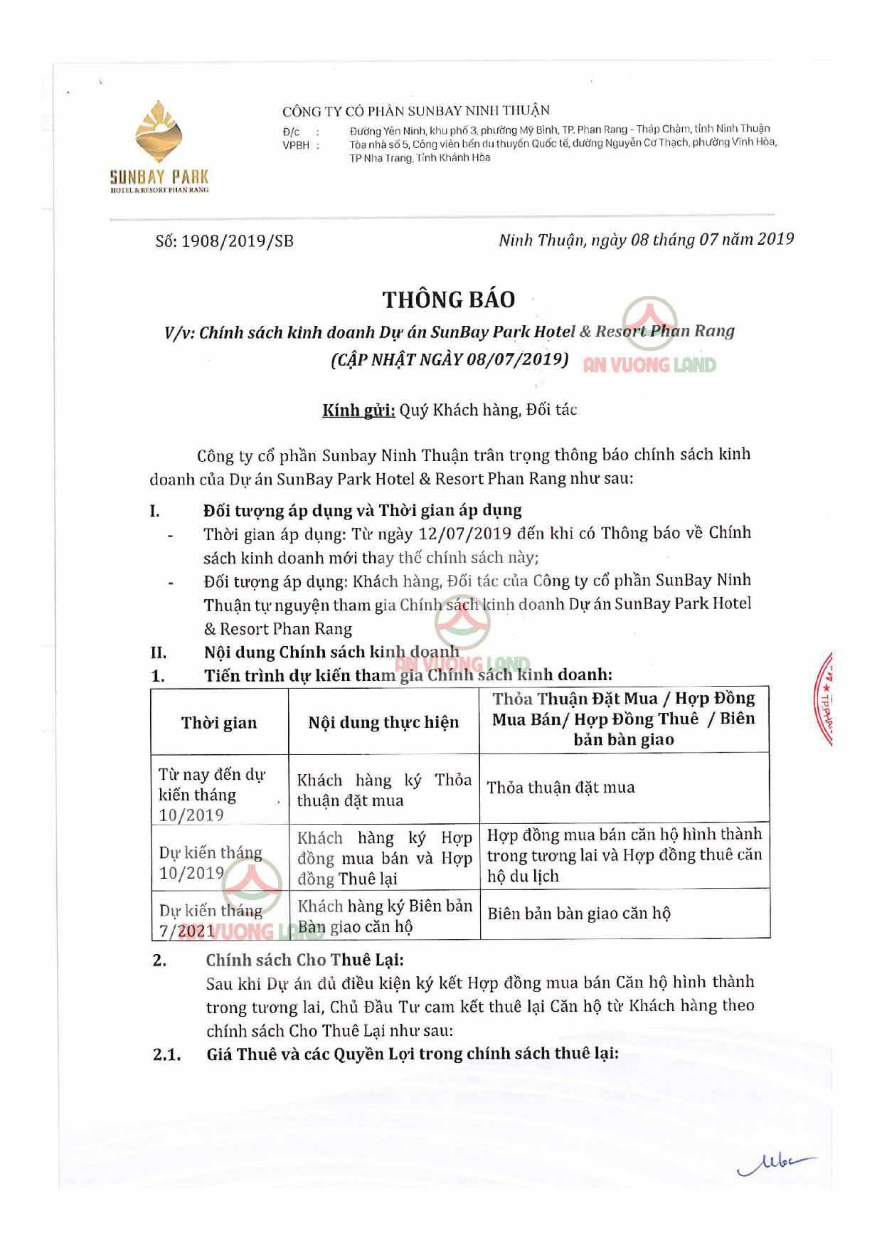 Chính sách bán hàng Sunbay Park Phan Rang Ninh Thuận (1)