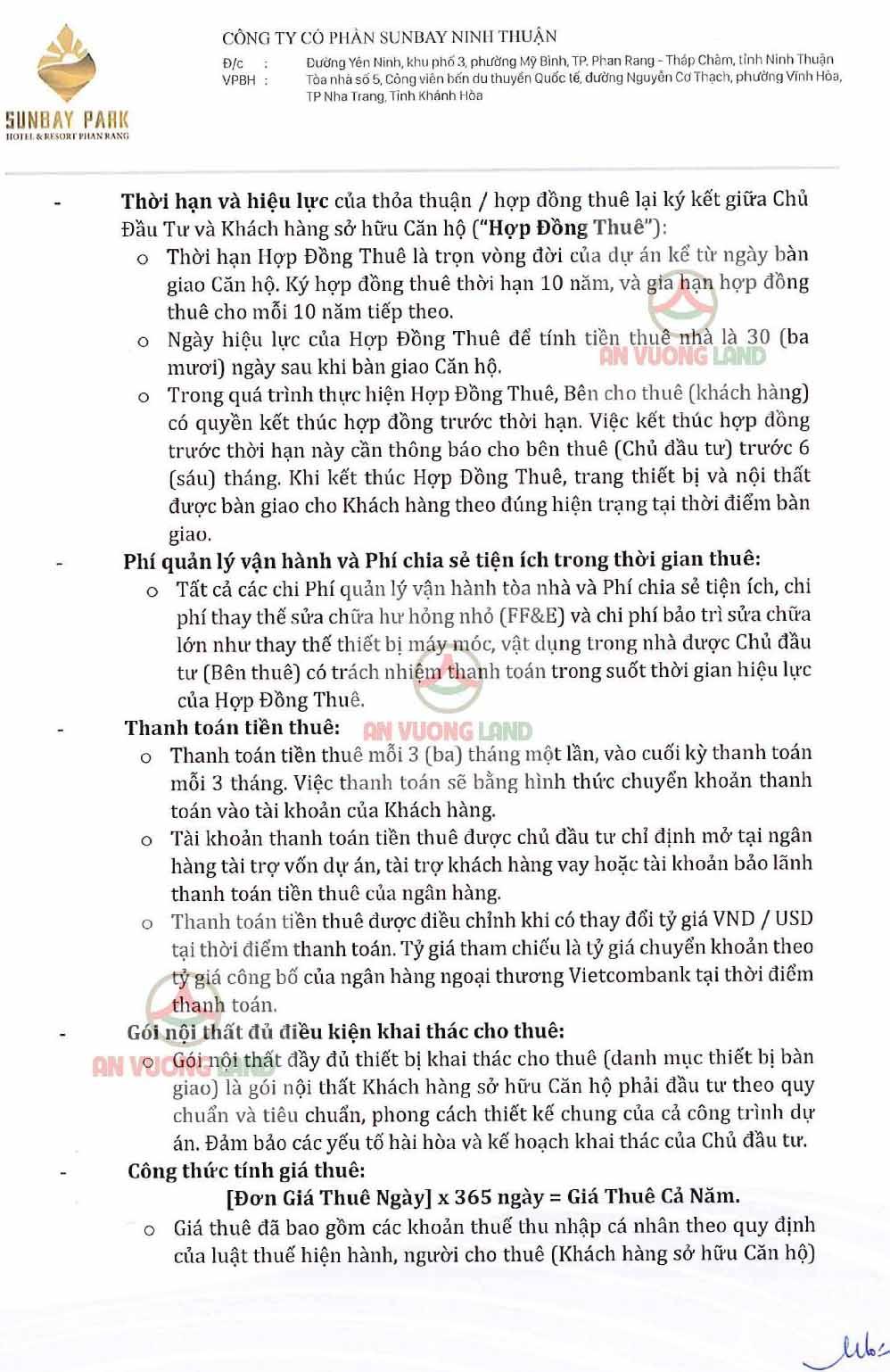 Chính sách bán hàng Sunbay Park Phan Rang Ninh Thuận (2)