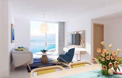 Phòng khách căn hộ 3 ngủ Sunbay Park Phan Rang Ninh Thuận